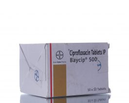 Baycip (Cipro)500mg – 1box/100tabs