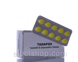 Tadapox – 20 mg Tadalafil / Cialis   60 mg Dapoxetine – 10 tablets