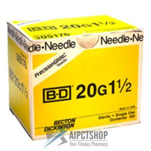 BD precisio glide needle 20 gauge